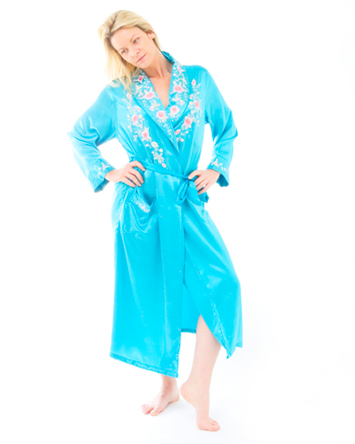 Embroidered Silk Robe