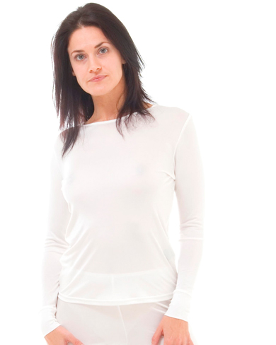 Silk Thermal Long Sleeve Vest- Set of 2